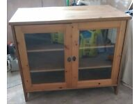 Ikea Wooden TV & DVD Cabinet / stand / unit, glass doors