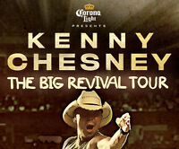 2 floor Tickets for Kenny Chesney at the First Ontario Centre