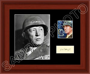 George-Patton-Matted-Photo-Display-11X14-General-WWII-US-Army-Autograph