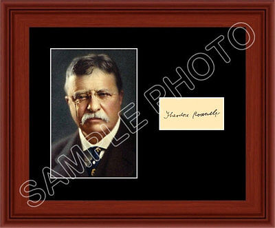 Theodore Roosevelt Matted Photo Display 8X10 Autograph President Teddy