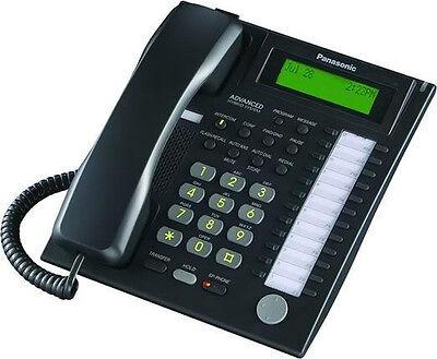 """New"" Panasonic KX-T7736B  Backlit 3-line LCD phone Black"