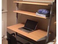 Student computer workstation/desk for bedroom or office