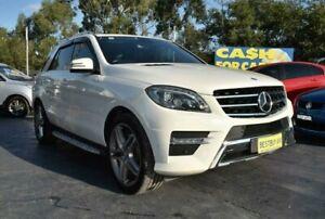 2012 Mercedes-Benz ML500 W166 7G-Tronic + White 7 Speed Sports Automatic Wagon