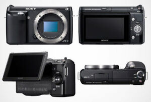 Sony NEX-3 (body only), battery, charger & flash