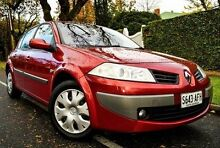 2007 Renault Megane II X84 Phase II Expression Red 4 Speed Automatic Sedan Medindie Walkerville Area Preview