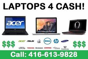 LAPTOPS FOR CASH! - WE COME TO YOU! ACER, LENOVO, MACBOOKS, IMACS, DELL, HP, SONY, SAMSUNG, ASUS, TOSHIBA, IBM
