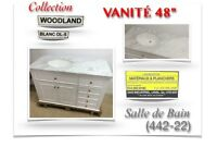 "442-22)  VANITÉ (48"")""/Salle de Bain /Collection ""WOODCAND"" 599$"