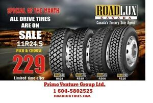 11R24.5 ROADLUX LOGGING DRIVE TIRE