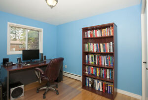 Wood Desk and Bookcase