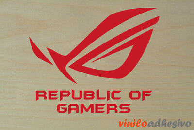 PEGATINA STICKER VINILO Republic of Gamers ROC Asus autocollant aufkleber