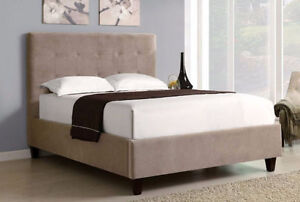 MODERN UPHOLSTERED TUFTED QUEEN BED KALIMBET