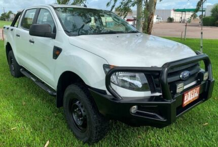 2015 Ford Ranger PX XL Double Cab White 6 Speed Automatic Utility Berrimah Darwin City Preview
