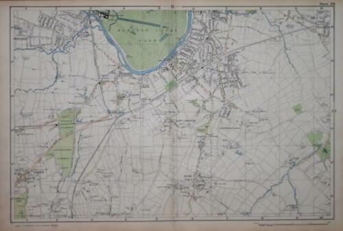 "LONDON - SURBITON & HAMPTON COURT PARK BY G. BACON. 4"" SCALE.  CIRCA 1900"