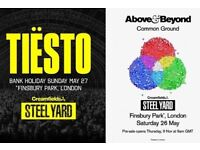 2 tix available for 26th May and 27th May - Above & beyond concert in London