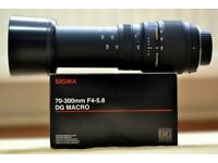 As NEW SIGMA 70-300 mm f4-5.6 DG Telephoto
