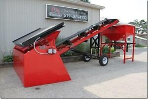 Topsoil Screeners, Tote fill systems, Grizzly Bars, Conveyors Made in Canada