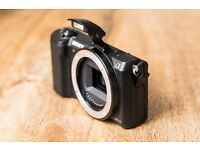 Sony a5100 - E mount camera body with Manfrotto bag
