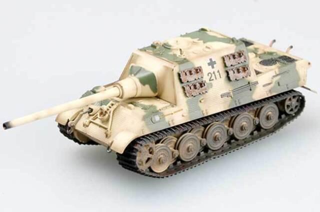 Easy Model - Hunting tiger (H) Henschel s.Pz.Jag.Abt. 512 Finshed 1:72 Trumpeter