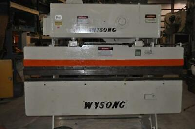 25 Ton Wysong Mechanical Press Brake 2 Stroke 10 Open Height 3 Manual Ram Ad