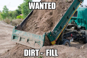 WANTED FILL SOIL - DIRT - LITTLE CLAY - SAND