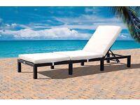 Brand New Luxury St Tropez London Rattan Sun Lounger Patio/ Outdoor Garden Furniture