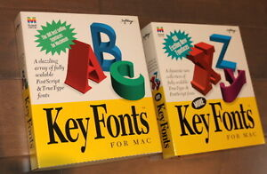 2 box set of Macintosh Vector Fonts - 200 type fonts for only $1