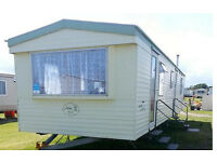 AVAILABLE NOW 3 bed Caravan Hire Northumberland Sandy Bay Holiday Park Resorts to let For Rent