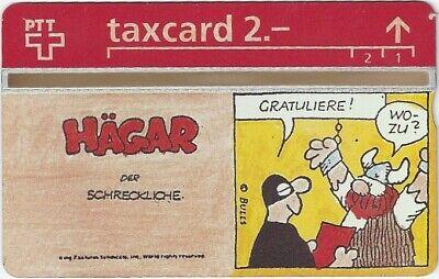 "TK 496b Telefonkarte/Phonecard Schweiz Comic ""Hägar"" (2)"