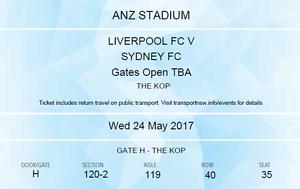 SYDNEY FC vs LIVERPOOL FC  (KOP TICKET) Sydney City Inner Sydney Preview