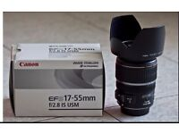 Canon 17 - 55 EFS IS Lens with lens hood