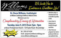 Embrace a Healthier Life!  Complimentary Evening of Information