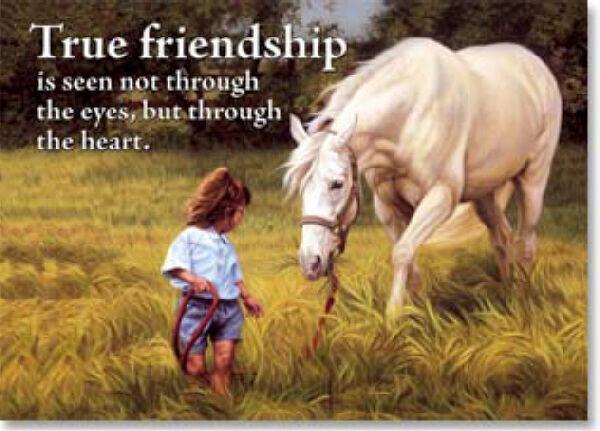 "LEANIN TREE ""True Friendship"" Refrigerator Magnet #31155~Seen through the heart~"