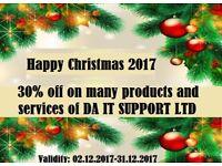 DA IT SUPPORT LTD Christmas 2017 offer