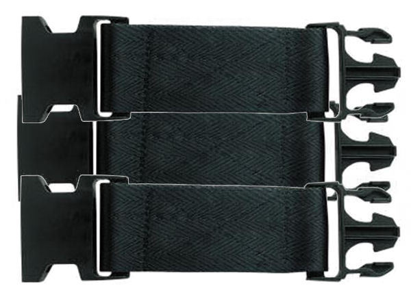 LOT of 3 Tru-Spec Pistol Belt Extender - New Style Quick Release -BLACK - NEW!