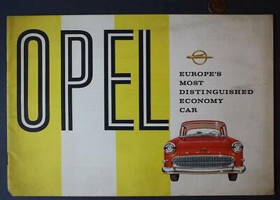 1954 Opel Motor Cars brochure- Europe's Most Distinguished Economy Car-VINTAGE!
