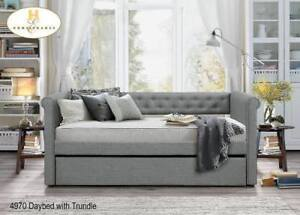 Grey Fabric Trundle - Furniture Sale (BD-2356)