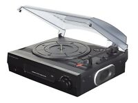 Turntable Record Sound System with Built-in Speakers