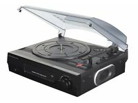 Turntable with Built-in Speakers