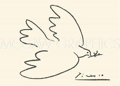 "PICASSO PABLO - DOVE OF PEACE - Artwork Reproduction 19.75"" x 27.5""  (459)"