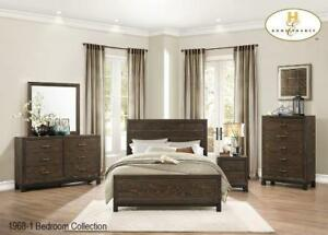 Brown finish 8 PC Queen Bedroom |Big Online Sale (MA240)