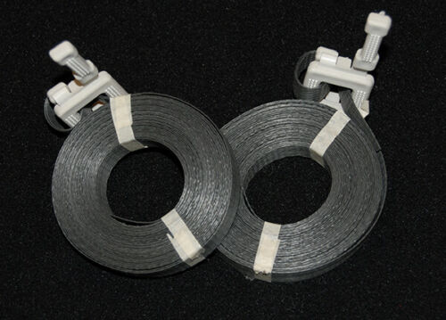 "100 Polypropylene Pre-Cut Strapping 1/2"" x 17"