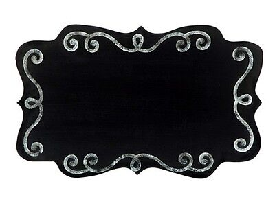 SCROLLED EDGE CHALKBOARD SIGN 10.75 x 17 INCHES FOR WEDDING VENUE Decorations