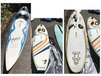 Windsurf kit - various boards, sails, booms, masts and accessories, all used