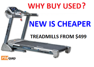 OUR TREADMILLS START FROM $499!! SO WHY BUY USED Bundall Gold Coast City Preview