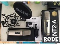 Rode NT2-A Microphone / Boxed w/ SM6 shockmount/pop shield