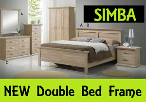 BRAND NEW Double Size Bed Frame SIMBA Bed DELIVERED FREE New Farm Brisbane North East Preview