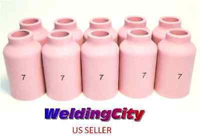 10-pk Tig Welding Ceramic Gas Lens Cup 54n15 7 Torch 171826 Us Seller Fast