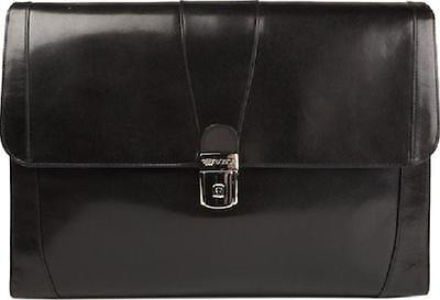 - Bosca Old Leather Underarm Flap Envelope Brief - Black