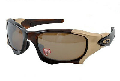 NEW Oakley Pit Boss II AF Polished Rootbeer Tungsten Iridium Polarized OO9215-03