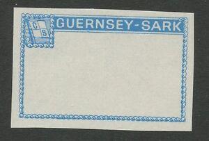 Guernsey-SARK-1965-6-Imperf-FRAME-PROOF-LIGHT-BLUE-UM-MNH